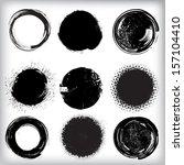 grunge shapes  | Shutterstock .eps vector #157104410