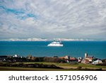 ferry making the crossing between Dover and Calais
