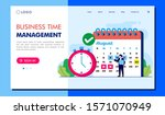 time management landing page...