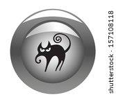 metallic button with halloween... | Shutterstock .eps vector #157108118