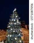 Christmas Tree Background With...