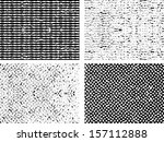 grunge set stripe. vector... | Shutterstock .eps vector #157112888