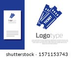 blue ticket icon isolated on... | Shutterstock .eps vector #1571153743