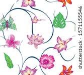 hand drawn marker seamless...   Shutterstock .eps vector #1571155546