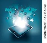smart phone vector illustration ... | Shutterstock .eps vector #157116350