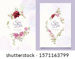 wedding invitation designs with ...   Shutterstock .eps vector #1571163799