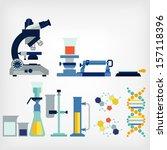 set of laboratory | Shutterstock .eps vector #157118396