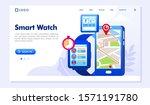 smart watch landing page... | Shutterstock .eps vector #1571191780
