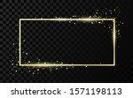golden frame template with... | Shutterstock . vector #1571198113