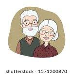 happy senior couple.... | Shutterstock .eps vector #1571200870