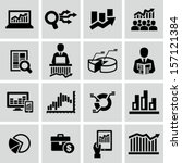 market analysis  diagrams icons