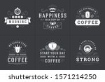 coffee quotes vintage...   Shutterstock .eps vector #1571214250