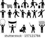 set of human pictograms with... | Shutterstock .eps vector #157121786