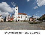 Square In Pacov In The Czech...