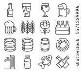 beer icons set on white... | Shutterstock .eps vector #1571239996
