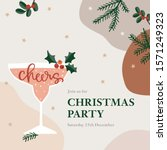 christmas party greeting card ... | Shutterstock .eps vector #1571249323
