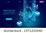 cyber security concept banner... | Shutterstock .eps vector #1571253340