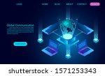 data technology banner. global... | Shutterstock .eps vector #1571253343