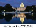 Stock photo washington dc us capitol at night 157128206