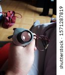 Random DYI magnifying attachement to a pair of glasses