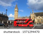 Small photo of LONDON, UK - APRIL 23, 2016: People visit Big Ben in London, UK. London is the most populous city and metropolitan area of the European Union with 9,787,426 people in 2011.