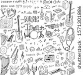 Set Of Music Drawing...