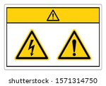 caution electric shock hazard... | Shutterstock .eps vector #1571314750
