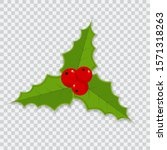 holly berry christmas icon.... | Shutterstock .eps vector #1571318263