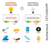 electrical conductors and... | Shutterstock .eps vector #1571334199