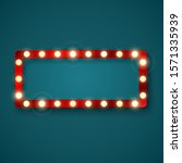 retro banner sign with red... | Shutterstock . vector #1571335939