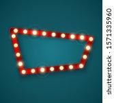 retro banner sign. signboard in ... | Shutterstock . vector #1571335960
