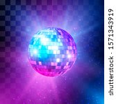 Disco Ball With Bright Rays And ...
