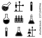 Chemical Flask Set Icons  Logo...