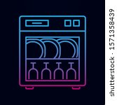 dishwasher line nolan icon....