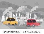 car air pollution  industry... | Shutterstock .eps vector #1571362573