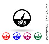 gas indicators multi color icon....