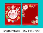 christmas greeting card with... | Shutterstock .eps vector #1571410720