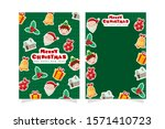 christmas greeting card with... | Shutterstock .eps vector #1571410723