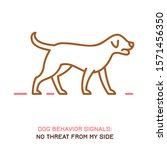 dog behavior icon. domestic... | Shutterstock .eps vector #1571456350