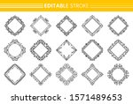 decorative vintage ornamental... | Shutterstock .eps vector #1571489653