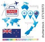new zealand. australia. flag.... | Shutterstock .eps vector #157150373