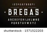 vintage design font. alphabet a ... | Shutterstock .eps vector #1571522203