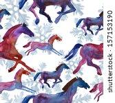 symbol of 2014.horses ... | Shutterstock . vector #157153190