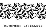 outline floral seamless pattern.... | Shutterstock .eps vector #1571532916