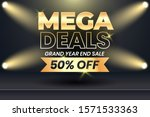mega deals year end grand sale... | Shutterstock .eps vector #1571533363