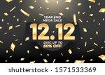 12.12 year end mega sale banner ... | Shutterstock .eps vector #1571533369