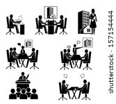 office people icons set.  group ... | Shutterstock .eps vector #157154444