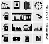 gasoline station icons | Shutterstock .eps vector #157154453