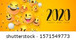 happy new year 2020 greeting... | Shutterstock .eps vector #1571549773