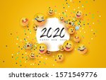 happy new year 2020 greeting... | Shutterstock .eps vector #1571549776